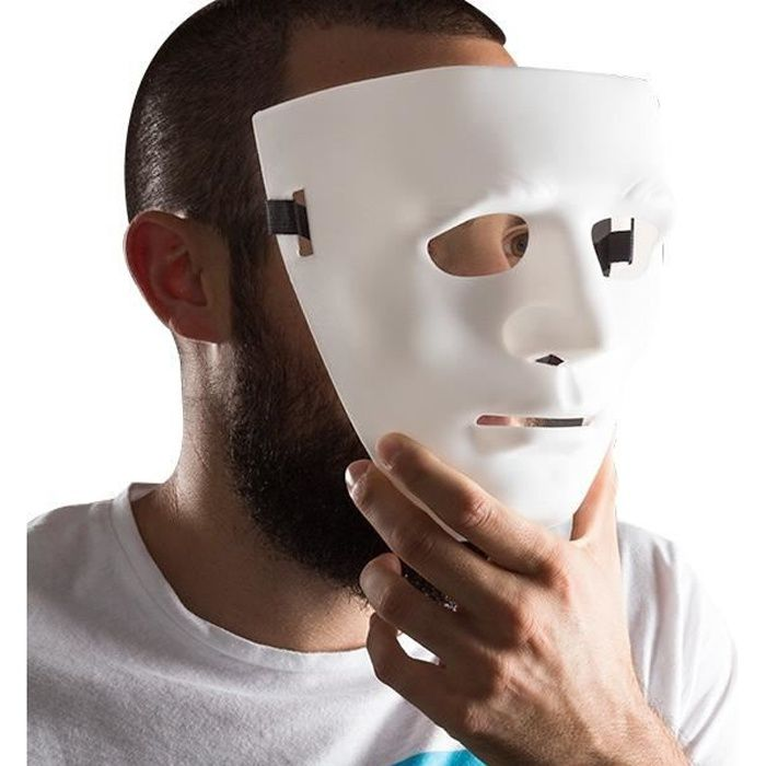 Masque blanc de personne anonyme visage - Cdiscount Jeux - Jouets