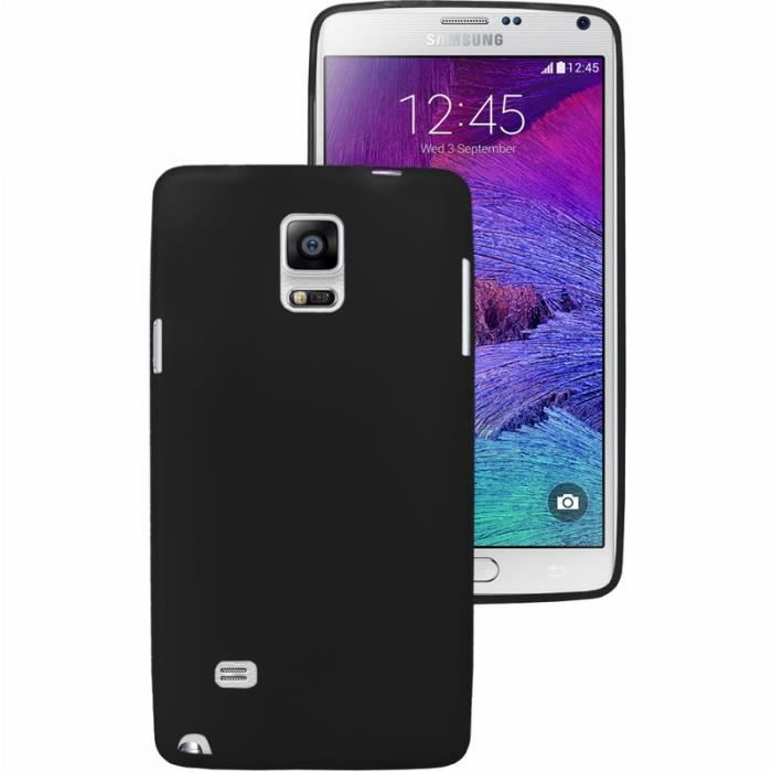 Coque samsung galaxy note 4 n910 silicone noire achat for Housse galaxy note 4