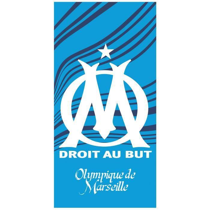 OLYMPIQUE DE MARSEILLE Drapeau OM 100 x 150 cm Collection officielle Football