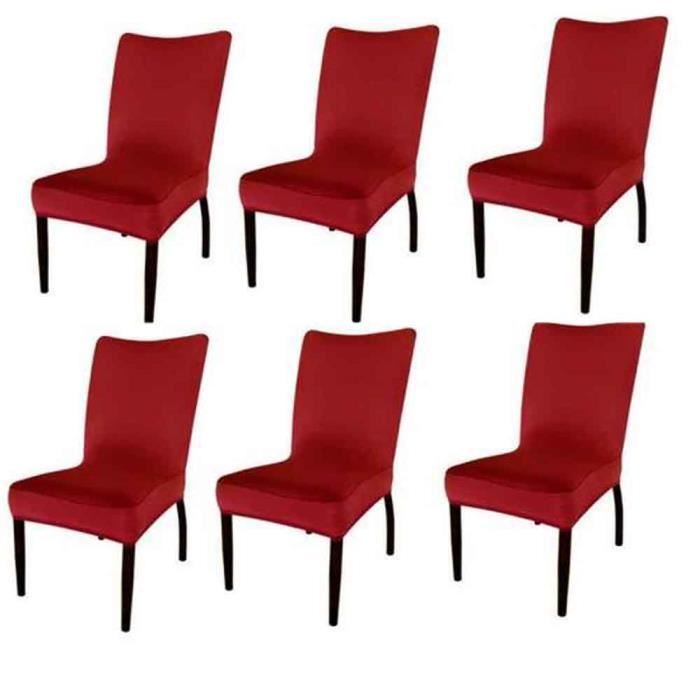 housses de chaises extensibles rouges achat vente. Black Bedroom Furniture Sets. Home Design Ideas