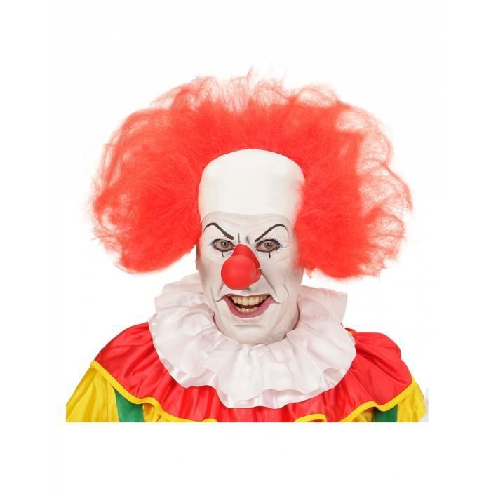 Clown Chauve headpiece avec cheveux rouges cirque Halloween Déguisements