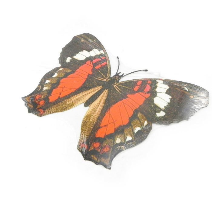 D co murale papillons muraux orange marron m achat for Deco murale originale metal