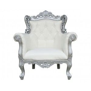 fauteuil baroque blanc achat vente fauteuil blanc cdiscount. Black Bedroom Furniture Sets. Home Design Ideas