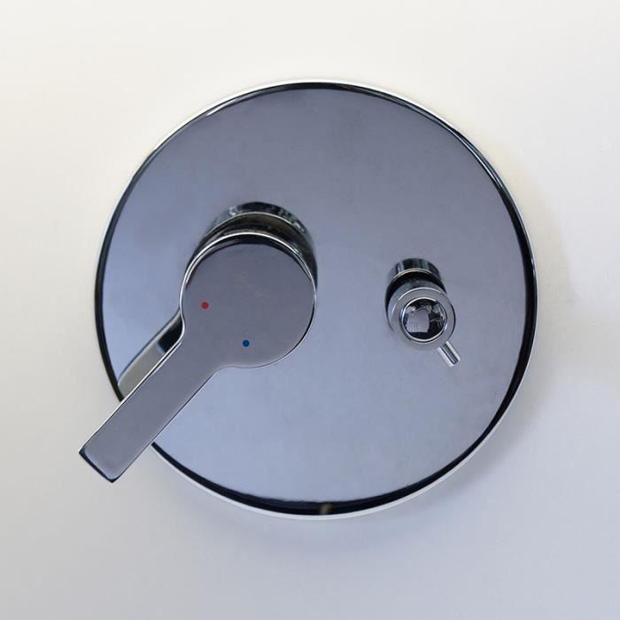 Mitigeur douche /à encastrer mural robinet monocommande chrom/é