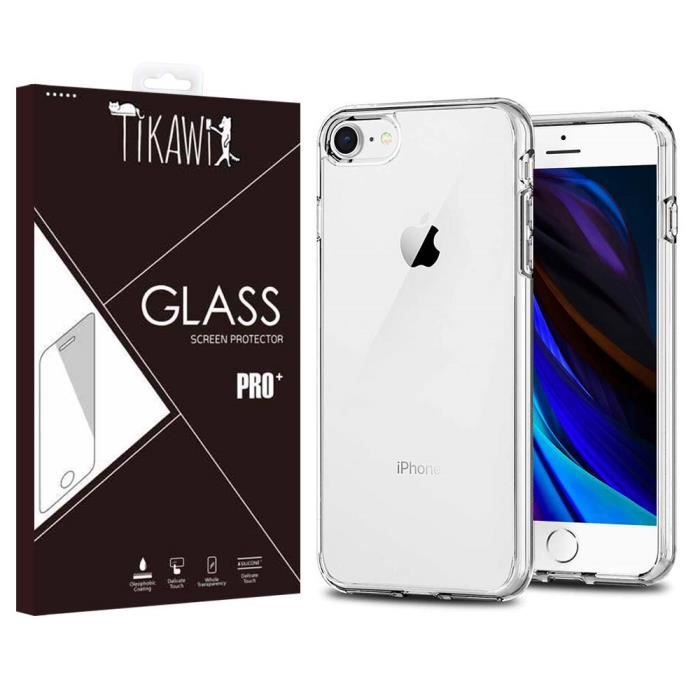 COQUE - BUMPER Coque Iphone 7 / 8 Transparente + Verre trempé Tik