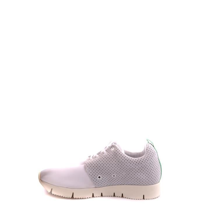 LEATHER CROWN HOMME MCBI185004O BLANC CUIR BASKETS