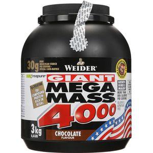 PROTÉINE WEIDER Mega Mass 4000 Chocolat 3 kg NTT
