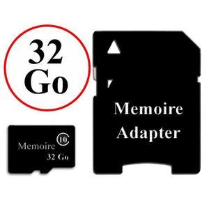 ACCESSOIRES SMARTPHONE Carte Mémoire au format Micro-SD 32 Go classe 10 +