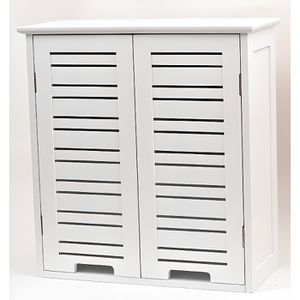 ARMOIRE DE TOILETTE Element haut - 2 portes BLANC MIAMI