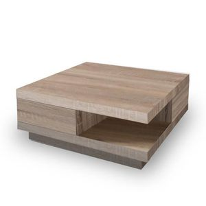 Table basse chene tiroirs achat vente table basse for Table basse chene clair pas cher