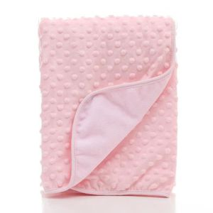 COUVERTURE - PLAID BÉBÉ Couverture tricotée pour bébé Doux 75x100x3cm Rose