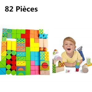 ASSEMBLAGE CONSTRUCTION 82 pièces Colorés Scène Blocs de Construction en B