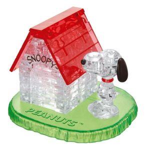 PUZZLE CRYSTAL PUZZLE Snoopy sur sa maison