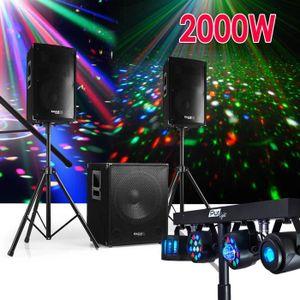 PACK SONO Pack SONO DJ 2000W 2 Enceintes Disco Club + Subwoo