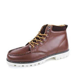 BOTTE Chaussures homme Bottes hiver Bottes courtes Chaus