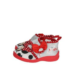 ESPADRILLE Disney Minnie Mouse Pantoufles Fille Rouge