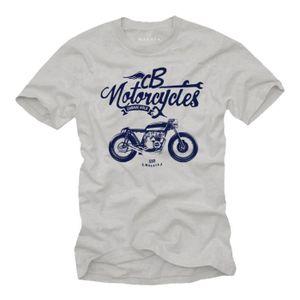 T-SHIRT Vetement Homme - Cafe Racer Moto Honda CB 550 - Bi