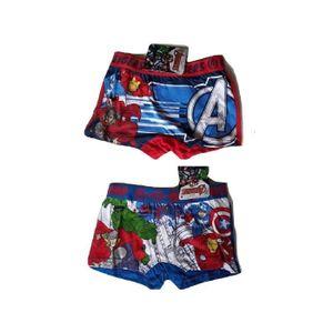 BOXER - SHORTY Lot 2 Boxer Enfant Garçon Coton AvengersMulticolor