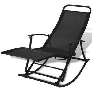 FAUTEUIL JARDIN  Chaise à bascule chaise relaxation Confortable pli