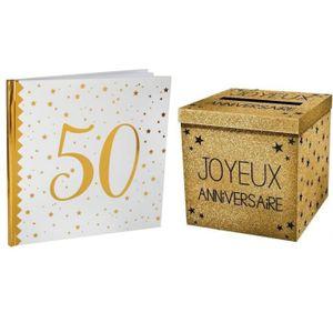 Livre dor Joyeux anniversaire Noir Fabriqu/é en France