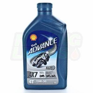HUILE MOTEUR Shell Advance 4T AX7 15W50 - Conditionnement