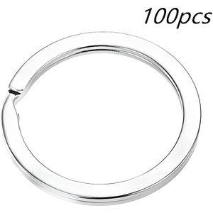 AF Lot de 100 mini anneaux de porte-cl/és Diam/ètre 15 mm