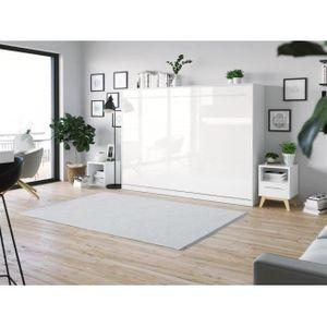 LIT ESCAMOTABLE SMARTBett Standard 140x200 horizontal blanc/ blanc