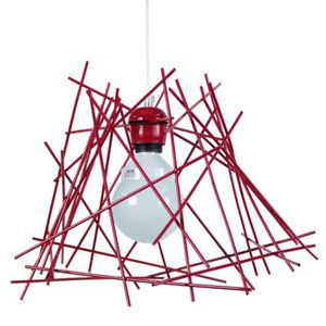 LUSTRE ET SUSPENSION HEX.INCERTUS,  12227; rouge   _ Luminaire, Suspens