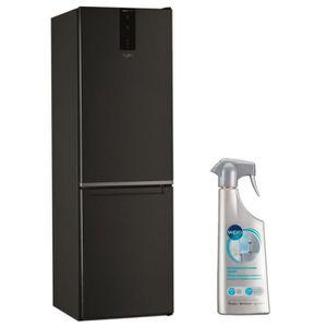 RÉFRIGÉRATEUR CLASSIQUE WHIRLPOOL Réfrigérateur frigo COMBINE NOIR 338L A+