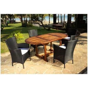 Table jardin resine ovale achat vente table jardin - Salon de jardin en resine avec table ovale ...