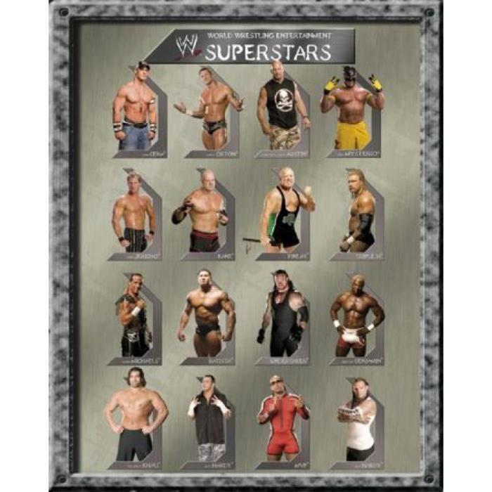 Le Catch Mini Poster - WWE, Superstars (50 x 40 cm) - Le Catch Mini Poster - WWE, Superstars (50 x 40 cm)