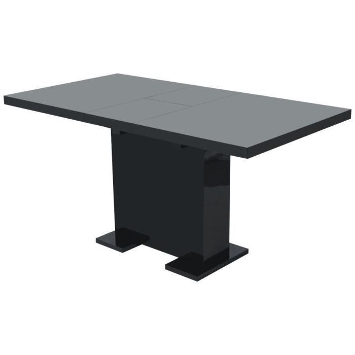 Table extensible de salle à manger Noir brillant -QNQ