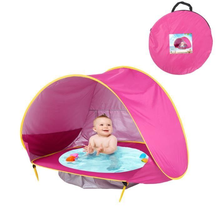 Tente d'activité Intégré Tente de Plage Bébé Pliable Piscine Para-soleil Ombre Bébé pour Plage Extérieur Jardin Cadeau Fille Garcon,