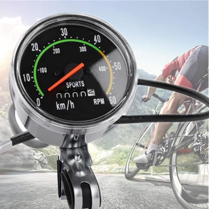 Mécanique Classique Route de Montagne Vélo Compteur de Vitesse, Multifonction étanche Vélo Compteur de Vitesse pour 26/27.5/28/29 in
