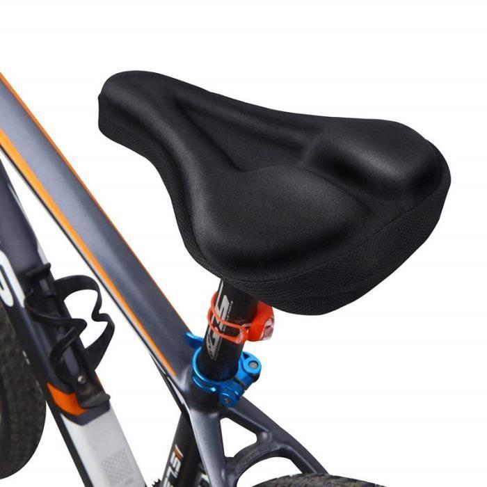 Selle de vélo ergonomique, siège de vélo avec ressort antichoc et système de mousse de poinçonnage, Noir
