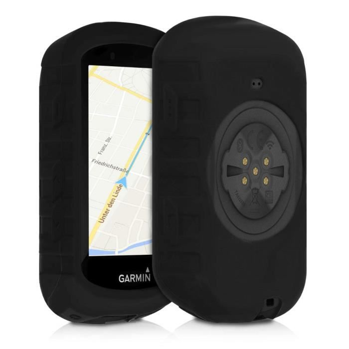 kwmobile Housse GPS vélo - Accessoire pour Garmin Edge 530 - Protection boitier navigateur - Étui en Silicone Noir