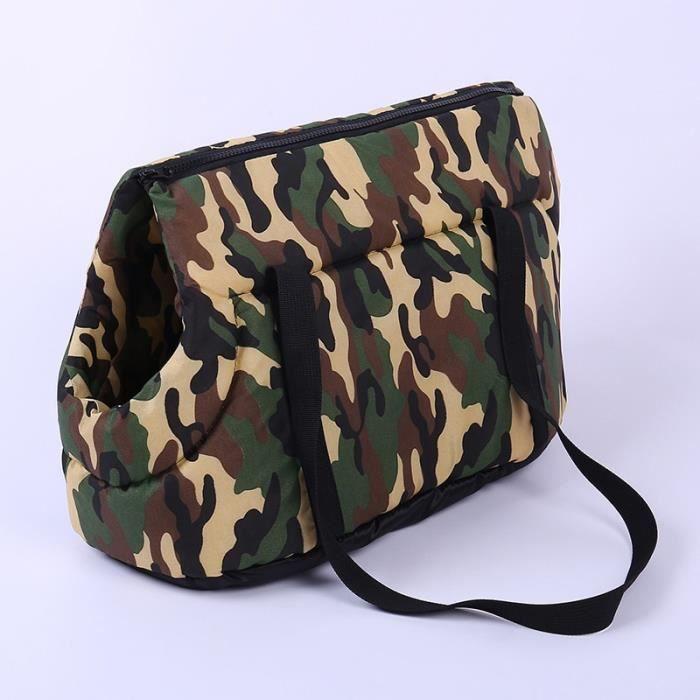 Sac à dos cage de Camouflage pour petits chiens Sac à dos confortable et doux pour chiot - Type Camouflage-S