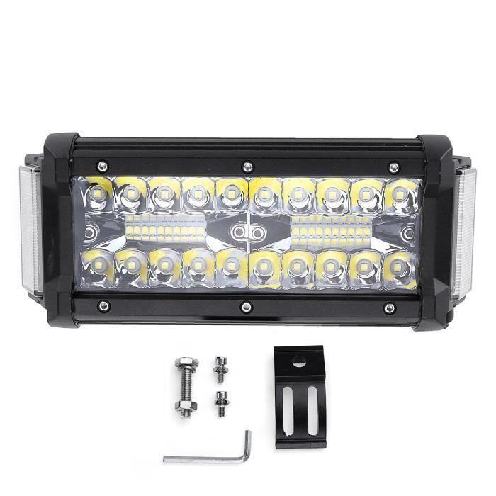 168W 5600LM LED Phare de Travail Barre Combo Blanc IP68 Offroad Quad 6.5Pouces DC10-30V La60003