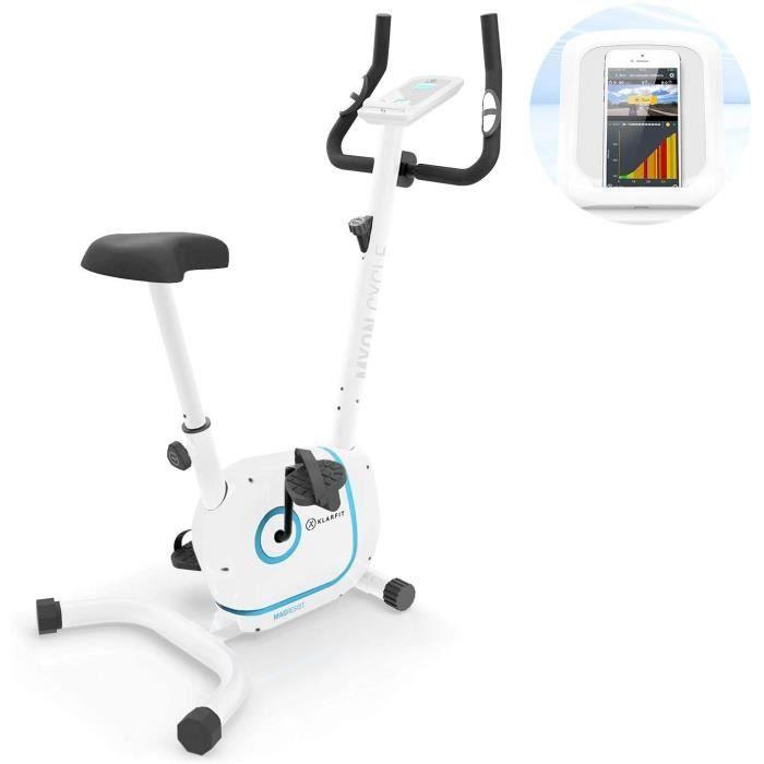 velo d'appartements KLAR FIT Myon Cycle - V&eacutelo d'exercice, Volant d'inertie de 12 kg, Entra&icircnement par Courroie avec48