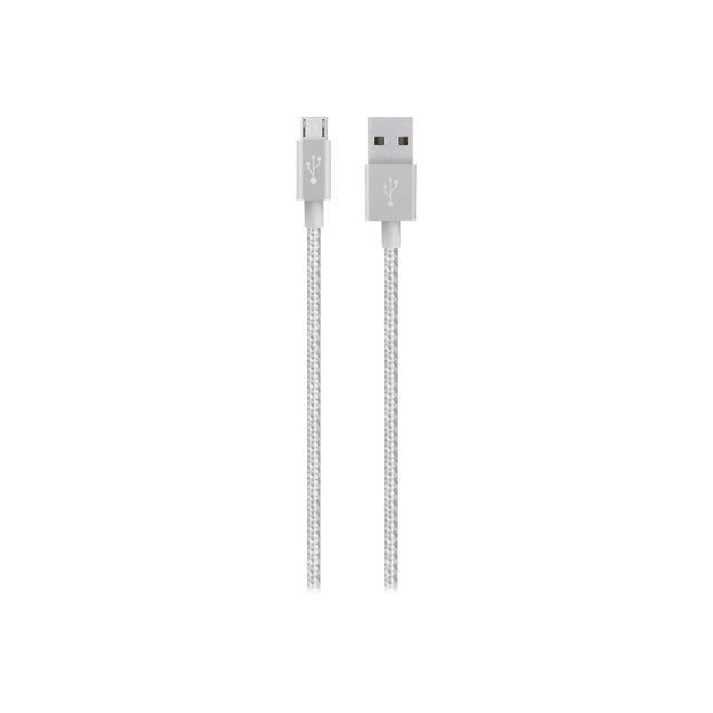 BELKIN Cable micro USB android - 2,4A - Silver