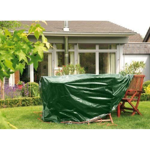 Bio Green Bâche de Protection pour Table Rond/Ovale Vert 2,4 x 1,8 x 0,9 m - RX90-TO