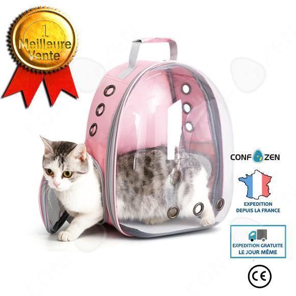 CONFO® Sac chat sac à dos hiver grande capacité petite boîte chien sac cabine transparent chiot chien espace sac