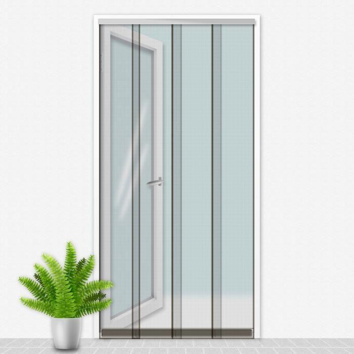 Porte Moustiquaire 100x220 cm Gris