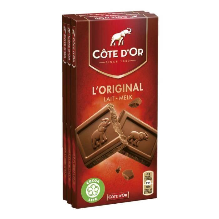 COTE D'OR Chocolat au lait Tablette de chocolat 3x100g