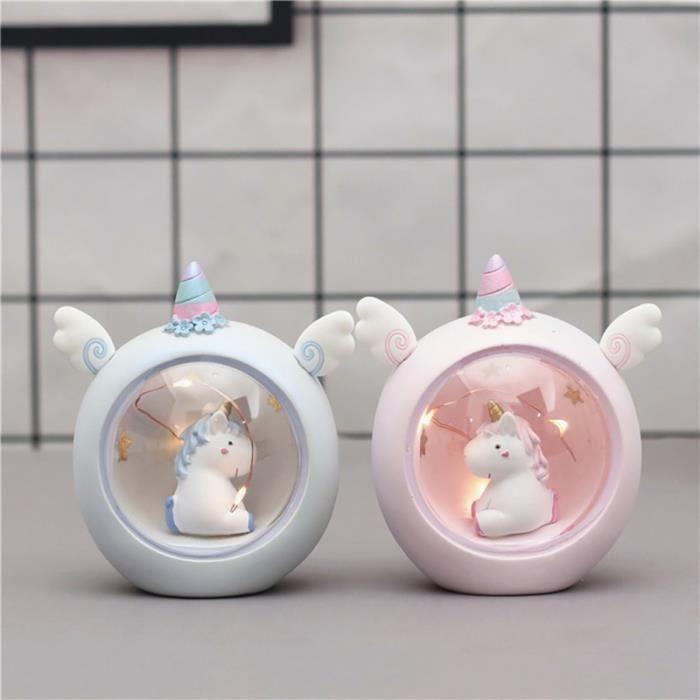 Licorne Veilleuse Lumière Étoiles Lampe de projecteur Moon Constellation Veiluse Pour Filles Cadeau veilleuse securite bebe