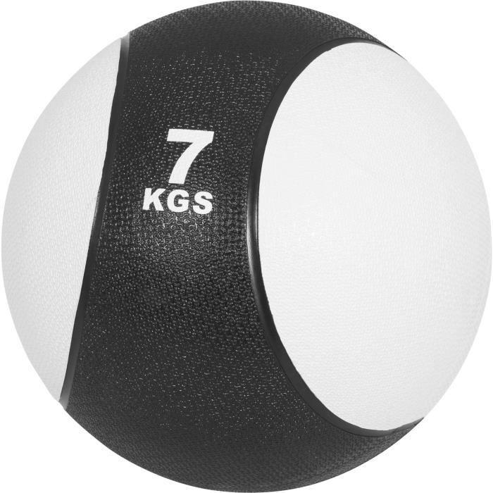 Médecine ball 7kg blanc/noir