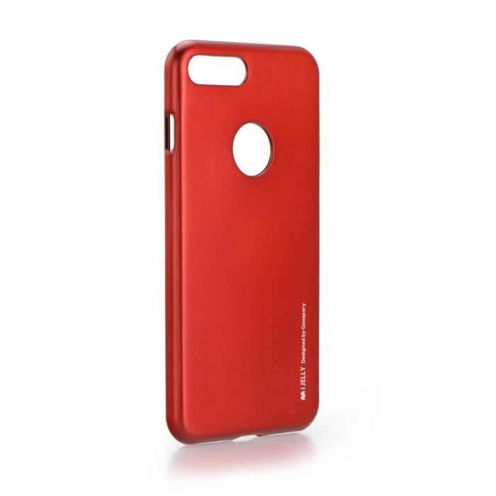 Coque Gel Jelly Silicone etui Rouge Flashi Xiaomi Redmi Note 8