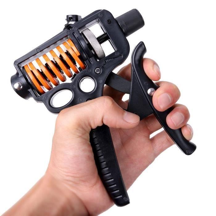 Noir Poignée de main Hand Gripper Fortifiant Musculation pour le renforcement Trigger Finger Training L'avant-bras Réglable 5-50