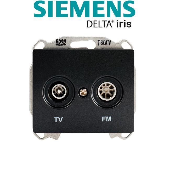 Prise TV/FM Anthracite Delta IRIS SIEMENS