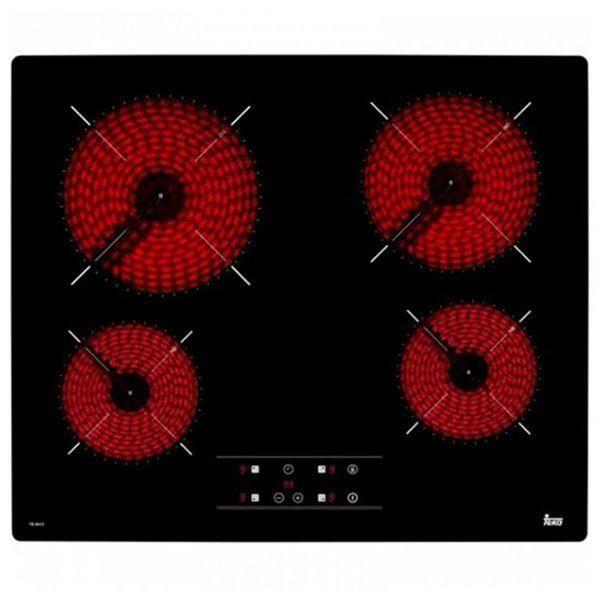 Plaques vitro-céramiques Teka 219127 6300W 60 cm Noir